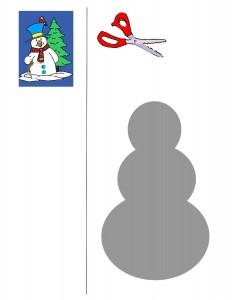 snowman cutting activities