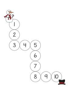 snowman number maze