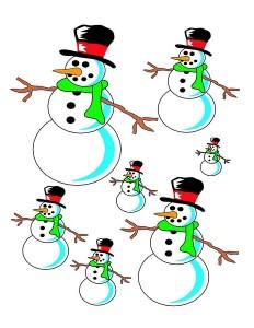 snowman size activities