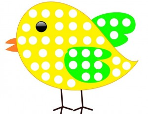 spring coloring page bird