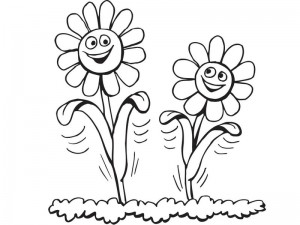 spring coloring page flowers