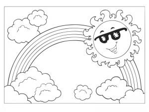 spring coloring page preschool