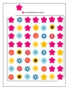 spring flowers maze