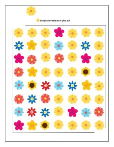 spring yellow flowers maze