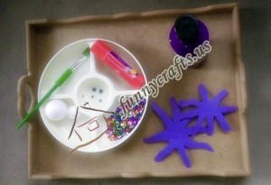 styrofoam ball octopus craft for kids