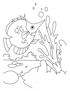 sweet fısh coloring pages