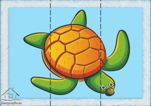 three piece puzzle caretta