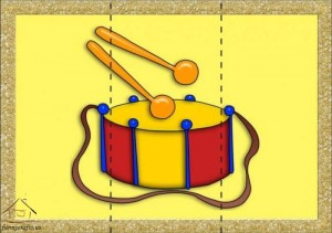 three piece puzzle snare drum