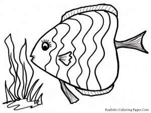 tropical fısh coloring pages