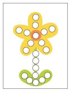 yellow flower spring do a dot