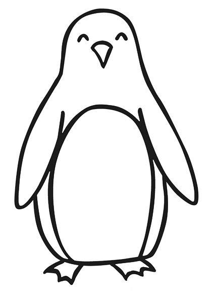 preschool penguins coloring pages - photo#13