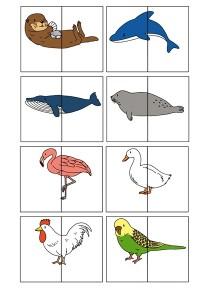 2 piece animal puzzles