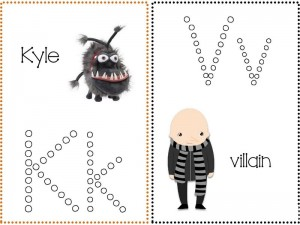Despicable me alphabet (1)