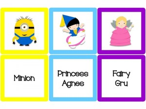 Despicable me color matching (1)