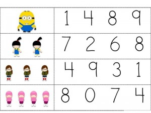 Despicable me counting activity (1)