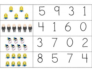 Despicable me counting activity (2)