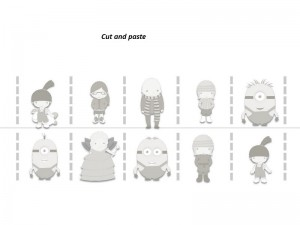 Despicable me cutting pages (2)