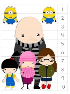 Despicable me sequence puzzle