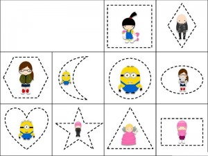 Despicable me shapes activity