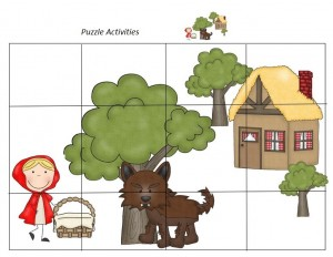 Little red riding hood cool puzzles