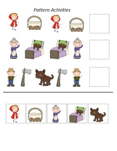 Little red riding hood pattern worksheets
