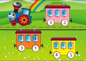 addition and subtraction math train (2)