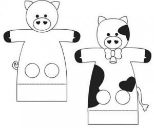 animals finger puppet worksheets