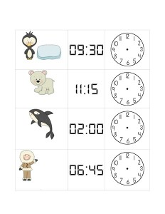 arctic animals clock