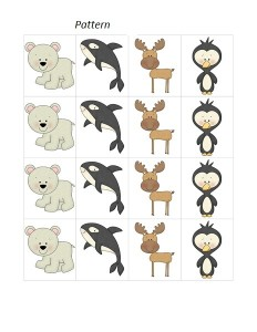 arctic animals make pattern