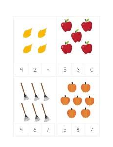 autumn theme activities math