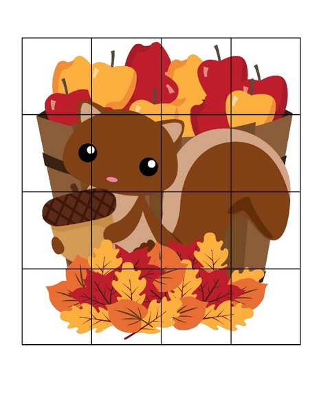Autumn theme puzzles for adults
