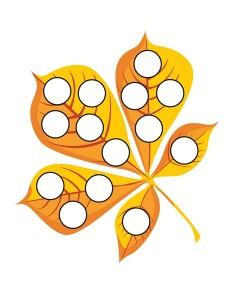autumn theme do a dots