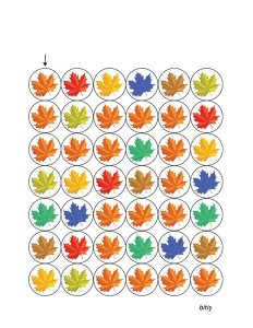 autumn theme leaf color maze