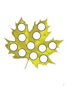 autumn theme leaf do a dot activity