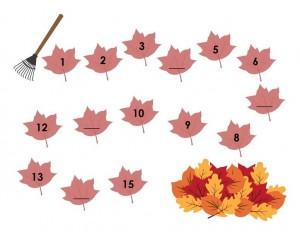 autumn theme math activities