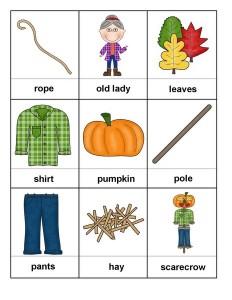 autumn theme montessori card