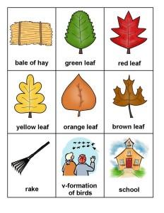 autumn theme montessori card sheets