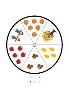 autumn theme number wheel