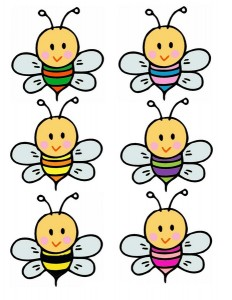 bee flower color matching activities