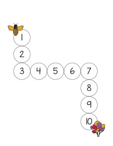 bee worksheets 1-10 maze