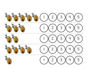 bee worksheets count activities