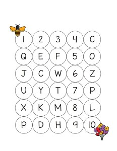 bee worksheets printables