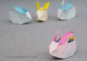 bunny crafts box origami