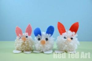 bunny crafts pom poms