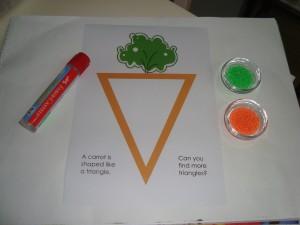 carrot triangle activity