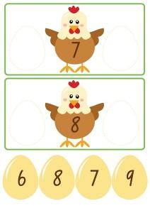 chicken count activities for kıds