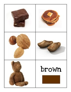 color cards brown