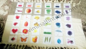 color cards montessori at home