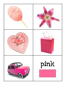 color cards pink