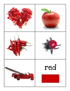 color cards red
